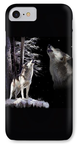 Wolf  Howling Memory IPhone Case by Regina Femrite
