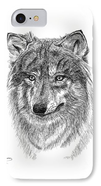Wolf II IPhone Case by Carl Genovese
