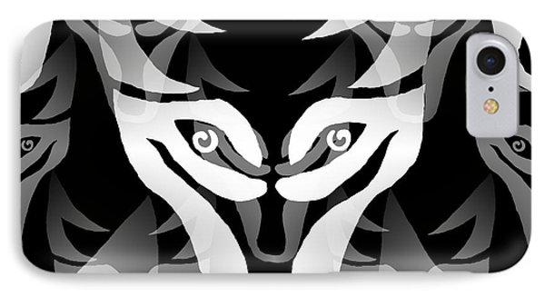 Wolf Mask IPhone Case by Barbara Moignard