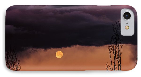 Wolf Moon IPhone Case by Roger Chenery