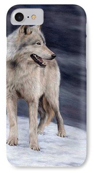 Wolf Painting IPhone Case by Rachel Stribbling
