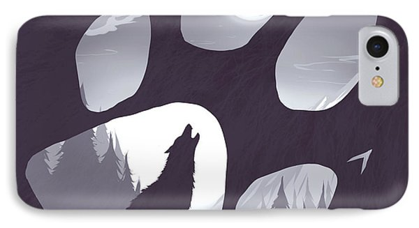 Wolf Paw IPhone Case by Daniel Hapi
