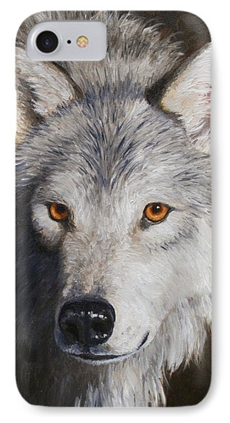 Wolf Portrait Phone Case by Crista Forest