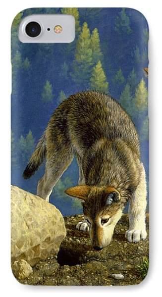 Wolf Pups - Anybody Home Phone Case by Crista Forest