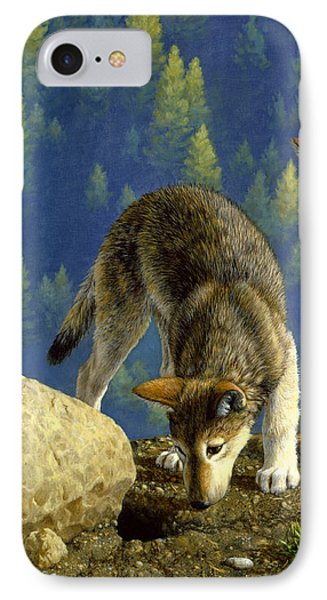 Wolf Pups - Anybody Home IPhone Case by Crista Forest