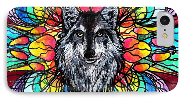 Wolf IPhone Case by Teal Eye  Print Store