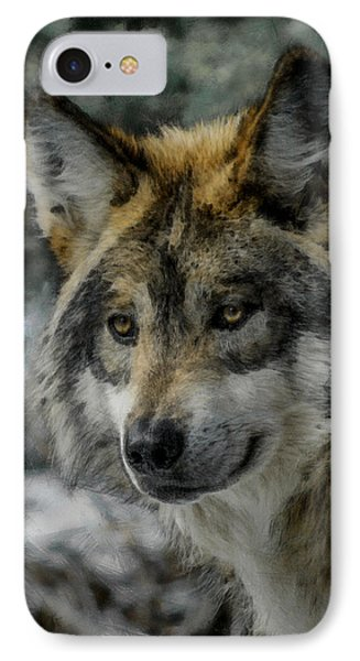 Wolf Upclose Painterly Phone Case by Ernie Echols