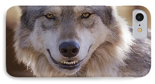 IPhone Case featuring the photograph Wolf's Smile  by Brian Cross