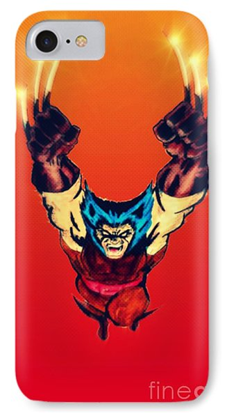 Wolverine  IPhone Case by Justin Moore