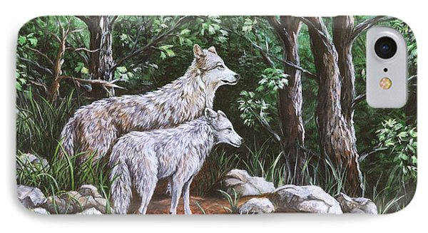 Wolves In South Dakota IPhone Case by Sharon Molinaro