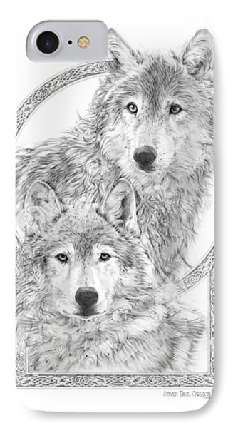 Canis Lupus II - Wolves - Mates For Life  Phone Case by Steven Paul Carlson