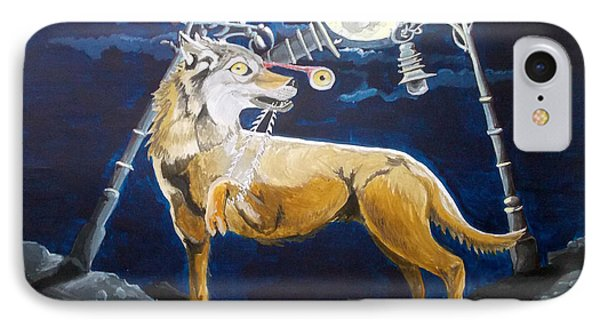 IPhone Case featuring the painting Wolves Mouth  by Lazaro Hurtado