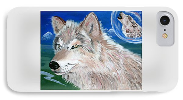 IPhone Case featuring the painting Wolves by Phyllis Kaltenbach