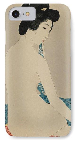 Woman After A Bath Taisho Era Phone Case by Goyo Hashiguchi