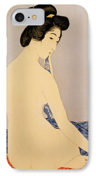 Woman After Bath Phone Case by Georgia Fowler