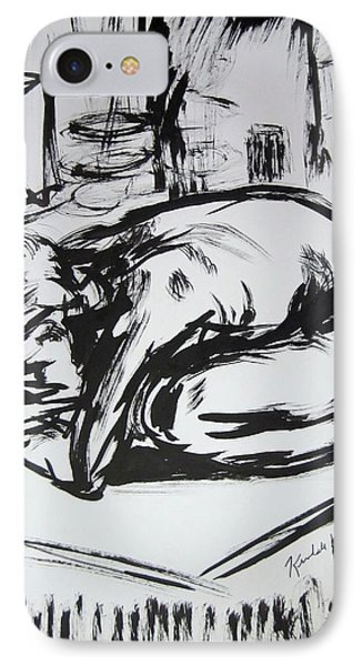 Woman Alone With Shadows Phone Case by Kendall Kessler
