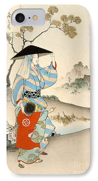 Woman And Child  IPhone Case by Ogata Gekko
