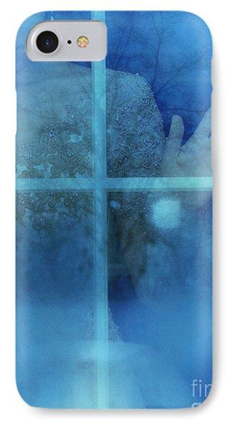 Woman At A Window IPhone Case by Jill Battaglia