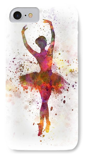 Woman Ballerina Ballet Dancer Dancing  IPhone Case by Pablo Romero