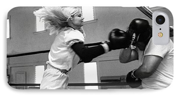 Woman Boxer IPhone Case by Underwood Archives