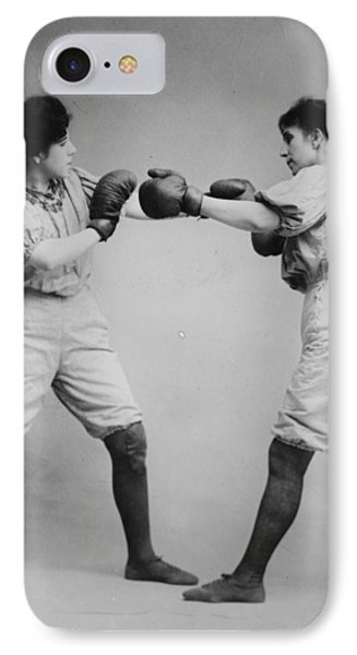 Woman Boxing Phone Case by Bill Cannon