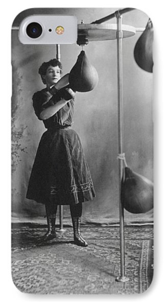 Woman Boxing Workout Phone Case by Underwood Archives