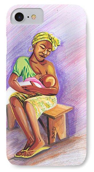 Woman Breastfeeding Bay In Rwanda IPhone Case by Emmanuel Baliyanga