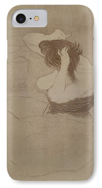 Woman Combing Her Hair, From Elles, 1896 IPhone Case