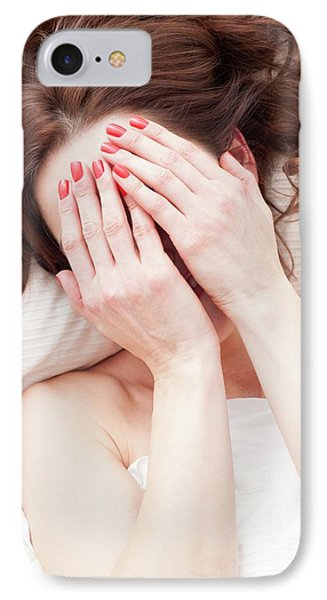 Woman Covering Face With Hands IPhone Case