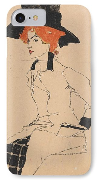 Woman Drawing IPhone Case by Celestial Images