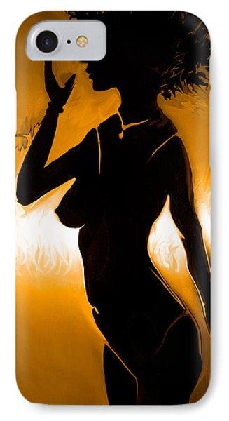 Woman Figure IPhone Case by Sotiris Filippou