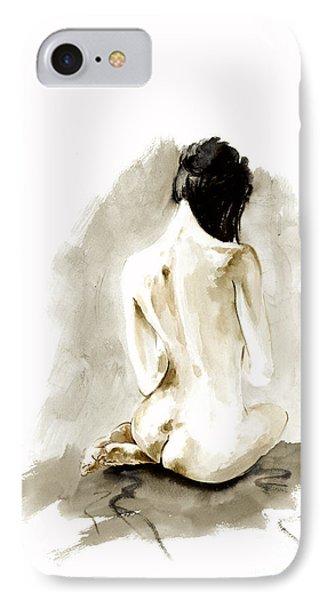 Woman Geisha Erotic Act Japanese Ink Painting IPhone Case by Mariusz Szmerdt