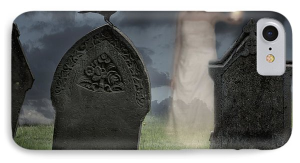 Woman Haunting Cemetery IPhone Case