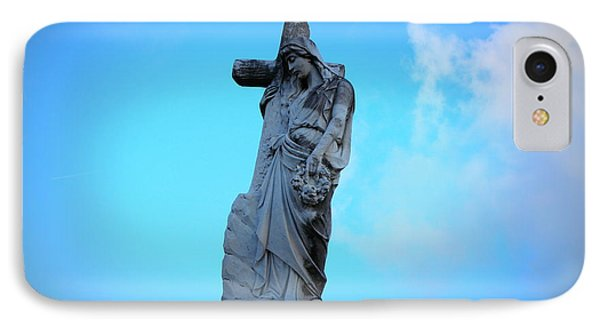 Woman Holding Cross IPhone Case