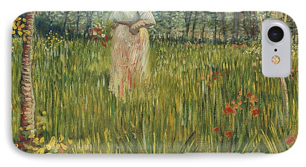 Woman In A Garden IPhone Case by Vincent van Gogh