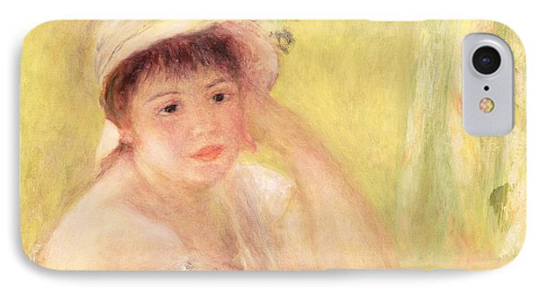 Woman In A Straw Hat, 1879 IPhone Case by Pierre Auguste Renoir