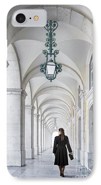Woman In Archway  IPhone Case by Carlos Caetano
