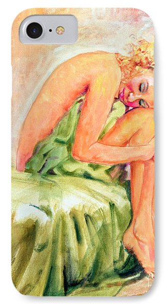 IPhone Case featuring the painting Woman In Blissful Ecstasy by Sher Nasser