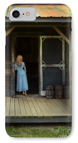 Woman In Cabin Doorway IPhone Case