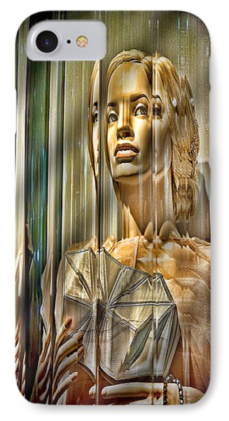 Woman In Glass Phone Case by Chuck Staley