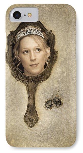 Woman In Mirror Phone Case by Amanda Elwell