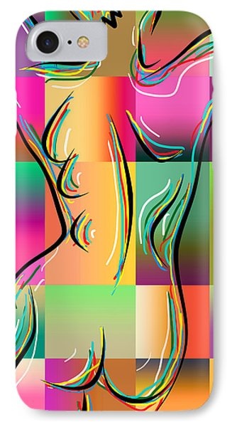 Woman In Nude 3 IPhone Case by Mark Ashkenazi