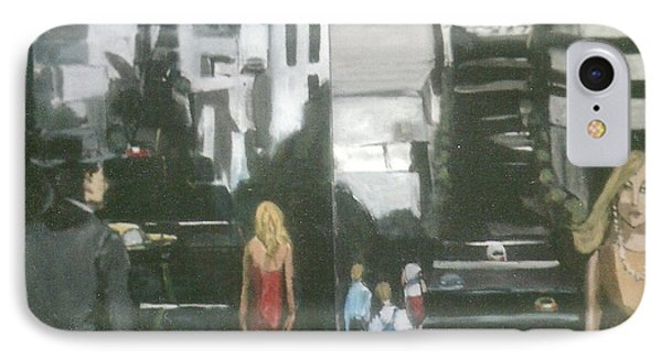 Woman In Red Dress San Francisco  Phone Case by Harry WEISBURD