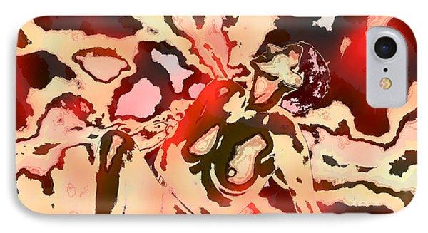 Woman In Red Phone Case by Kurt Van Wagner