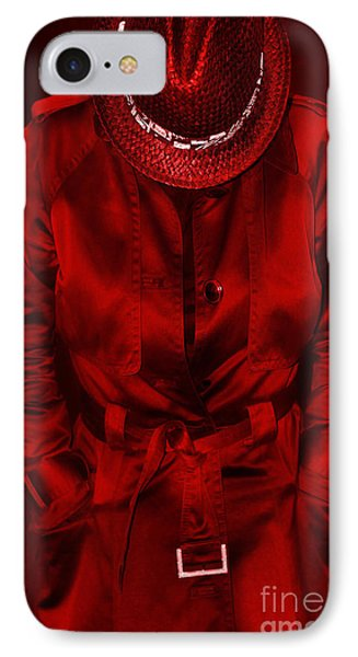 Woman In Red Phone Case by Svetlana Sewell