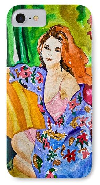 Woman In Silk Kimono IPhone Case