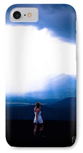 Woman In Storm Phone Case by Scott Sawyer