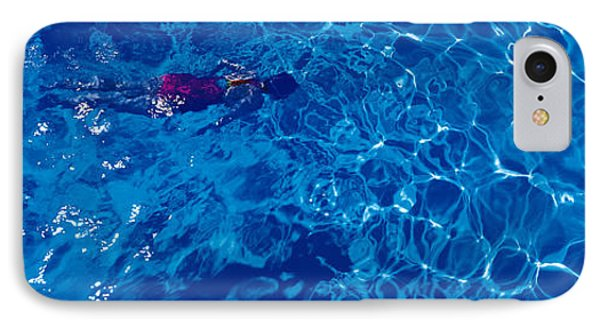 Woman In Swimming Pool IPhone Case by Panoramic Images