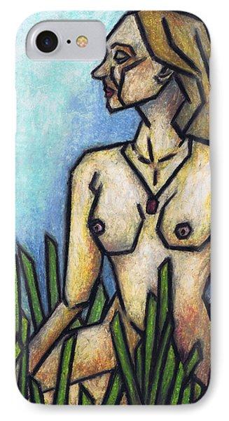 Woman In The Meadow Phone Case by Kamil Swiatek