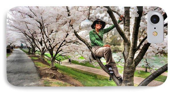 Woman In Tree Phone Case by Dan Friend